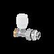 Ручной радиаторный кран RBM (прямой, подача)